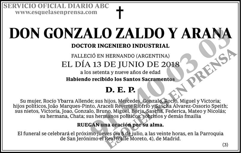 Gonzalo Zaldo y Arana
